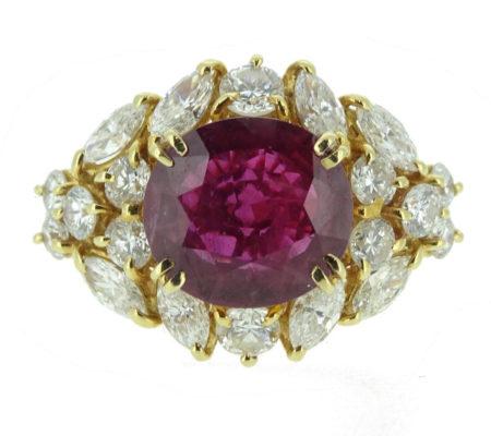 K18ルビーダイヤモンドリング画像