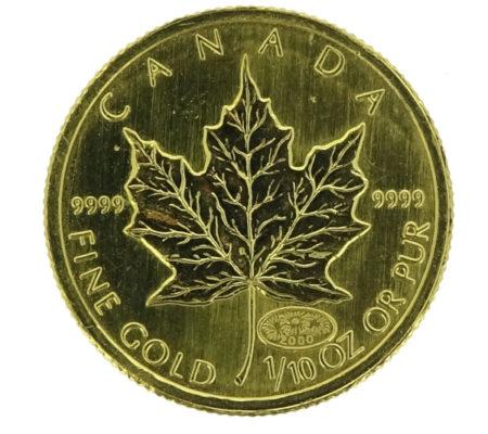 K24メープル金貨1/10oz 3.13g画像