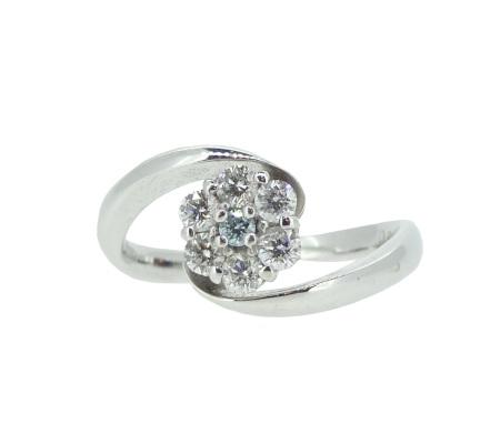 K18WGダイヤモンドリング4.18g0.30ct画像