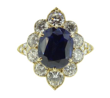 ヴァンクリーフアーペルK18サファイアダイヤモンドリング5.36g画像