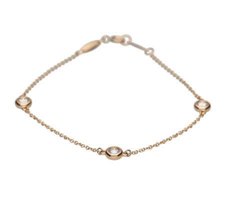 【Tiffany】750ダイヤモンドブレスレット2.46g画像