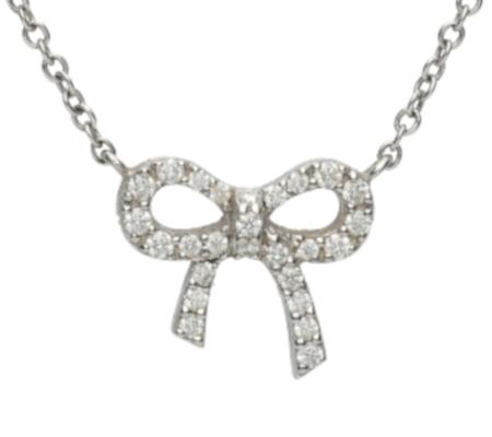 【Tiffany】K18WGダイヤモンドネックレス2.34g画像