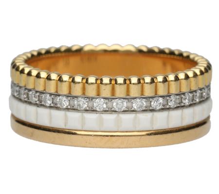 【Boucheron】ブシュロンキャトルリングK18YG/PG/WGダイヤモンドリング5.34g画像