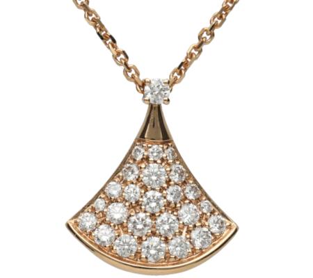 【BULGARI】K18PGダイヤモンドネックレス5.36g画像