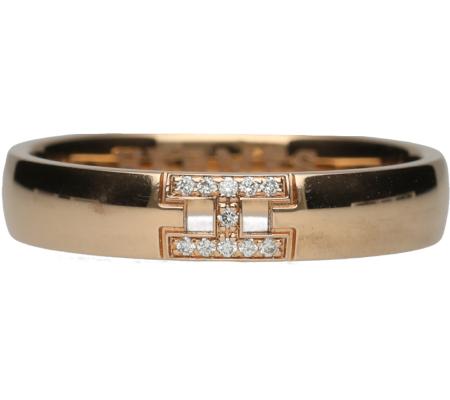 【 Hermès】エルメスK18PGダイヤモンドリング3.11g画像