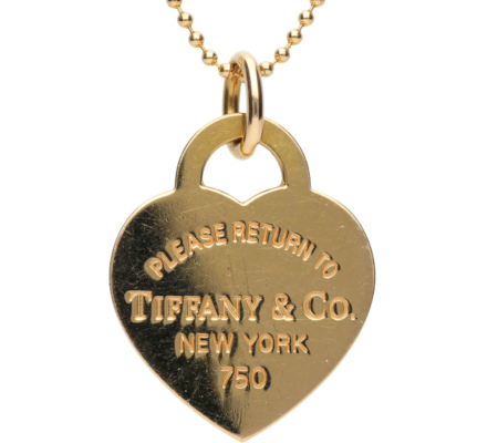 【Tiffany】K18YGティファニーネックレス5.61g画像