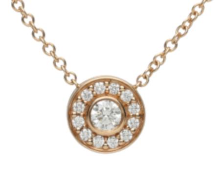 【Tiffany】K18PGダイヤモンドネックレス1.79g画像