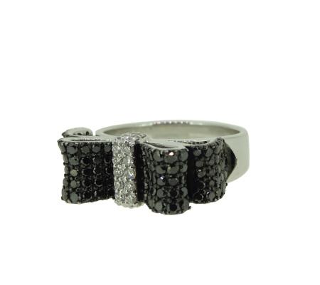 ポンテヴェキオ K18ホワイトゴールドダイヤモンドリング 0.16ct 0.95ct 9.98g画像